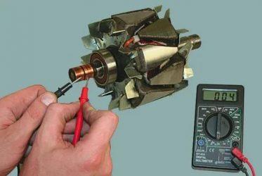 Как проверить обмотку якоря мультиметром?