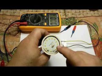 Как проверить светодиодную лампу мультиметром на работоспособность?