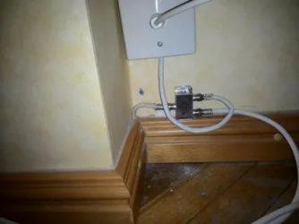 Как провести антенный кабель по квартире?