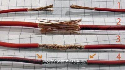 Как правильно соединить медные провода между собой?