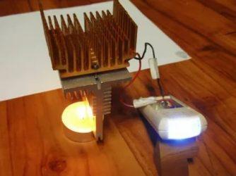 Электричество из тепла своими руками