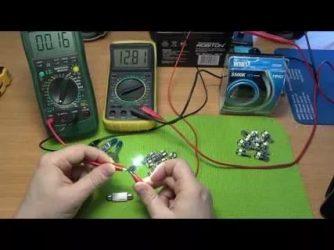 Как измерить мощность лампочки мультиметром?