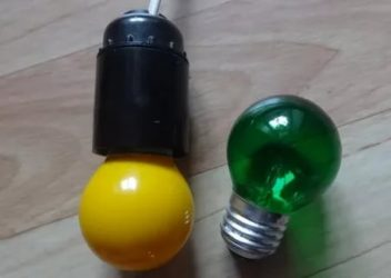 Как сделать цветную лампочку своими руками?